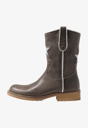 Kovbojské/motorkářské boty - dark grey