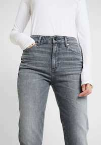 G-Star - 3301 HIGH STRAIGHT 90S - Jeans straight leg - faded pebble grey - 3