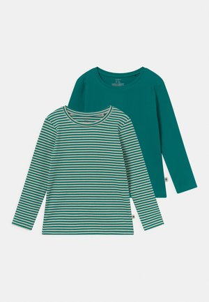 BASIC SOLID 2 PACK UNISEX - Long sleeved top - green