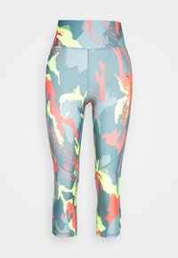 ONLY PLAY Tall - ONPALECXIA LIFE TIGHT - Leggings - Trousers - goblin blue/safety yellow - 3