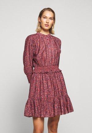 DRESS - Shirt dress - red/blue
