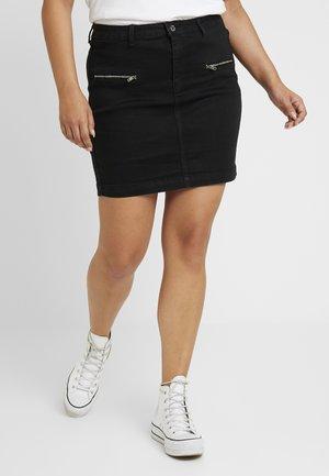 ZIP POCKET MINI SKIRT - Pouzdrová sukně - black