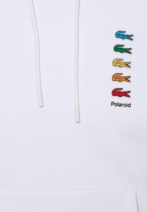 Lacoste POLAROID UNISEX HOODIE - Bluza - white/biały Odzież Męska BXAC