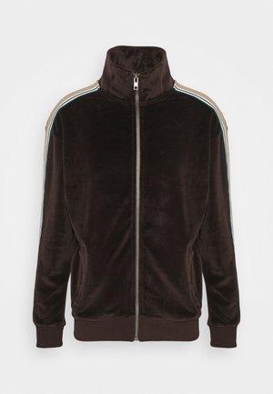 TRACKTOP TAPING DETAIL - Zip-up hoodie - brown