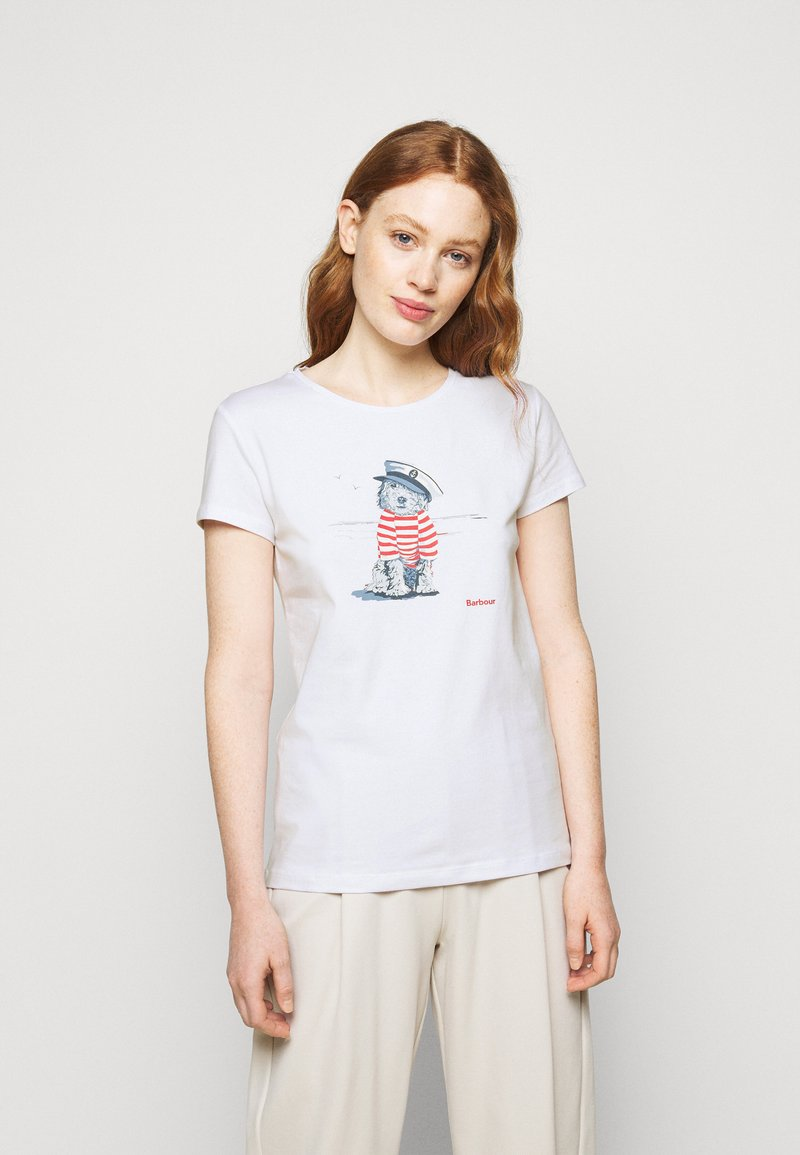 Barbour - SOUTHPORT TEE - Print T-shirt - white