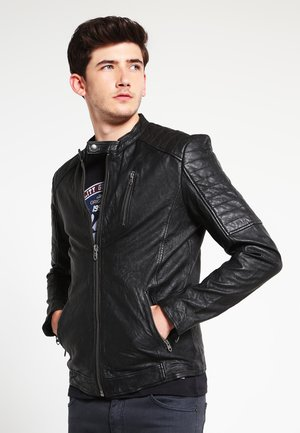 JJVRICHARD  - Leather jacket - black