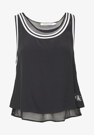 TANK WITH MESH LINING - Top - black