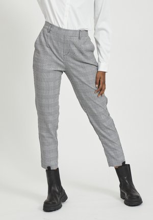 OBJLISA - Trousers - gardenia/black