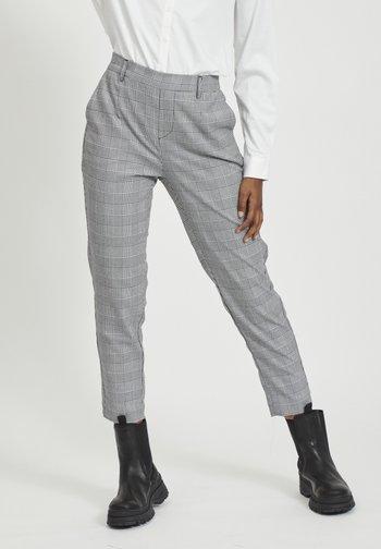 Trousers - gardenia/black