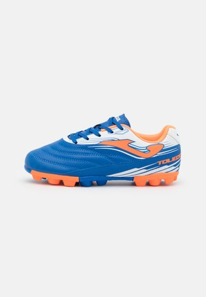 TOLEDO UNISEX - Moulded stud football boots - royal/orange