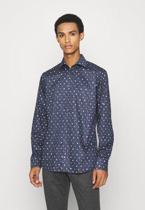 Slim Fit - Vegetables Print Fine Twill Shirt - Formal shirt - blue