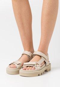 LÄST - CANDY - Platform sandals - beige - 0