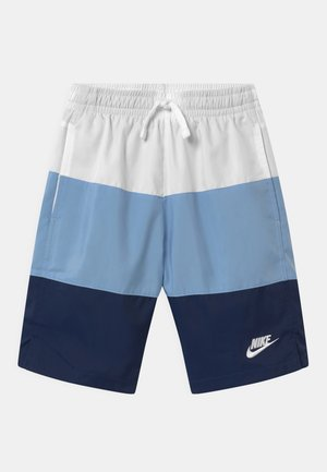 BLOCK - Shorts - white/psychic blue/midnight navy