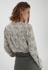 Fransa - Button-down blouse - green flower mix - 2