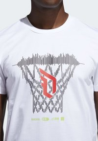 adidas Performance - DAME  - Print T-shirt - white - 6