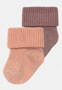 MP Denmark - GLITTER 2 PACK - Socks - wishful rose - 0