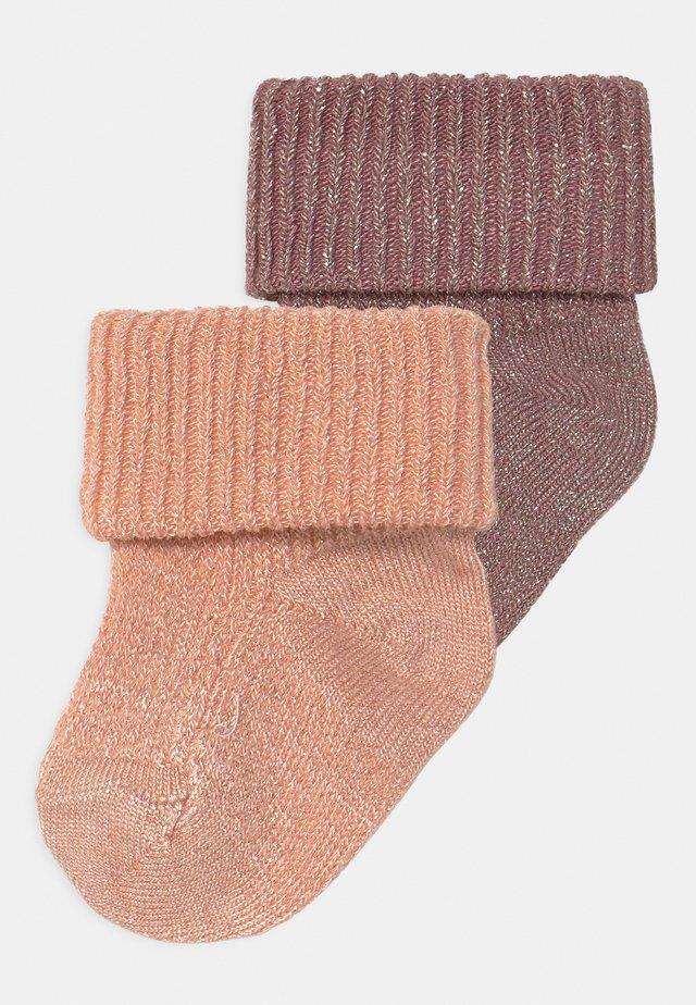 GLITTER 2 PACK - Ponožky - wishful rose