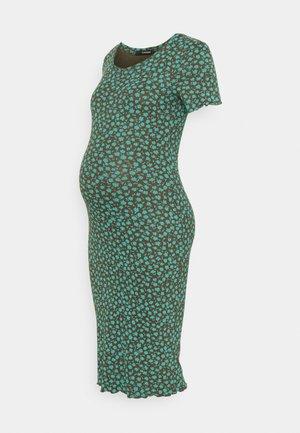 DRESS FLOWER - Jersey dress - agate green