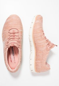 Skechers - EMPIRE SEE YA RELAXED FIT - Slip-ons - rose - 3