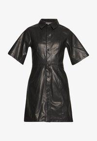 Weekday - SAVANAH DRESS - Košilové šaty - black - 3