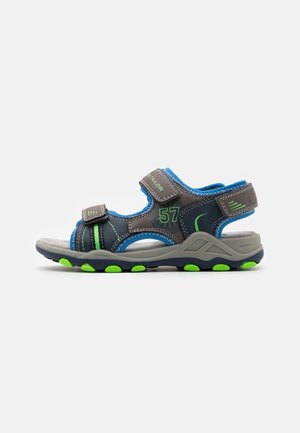 Walking sandals - grey/navy/royal/lime