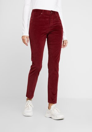 TROUSER - Trousers - burgundy