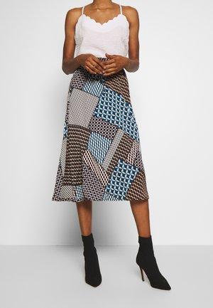 YASBLOCKA MIDI SKIRT - A-line skirt - blue depths