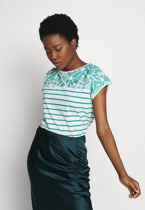 STRIPED TEE - T-shirt print - teal green