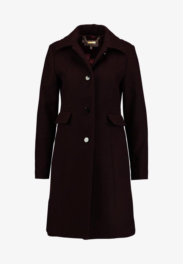 EVALINA COAT - Krótki płaszcz - aubergine