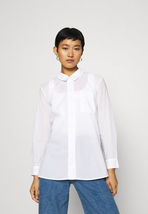 BASIC BLOUSE - Button-down blouse - white