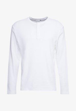 WAFFLE HENLEY - Bluzka z długim rękawem - white