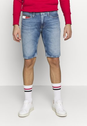 SCANTON HERITAGE - Shorts di jeans - light blue denim