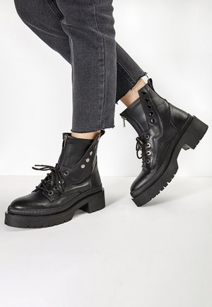 Cowboy/biker ankle boot - black  blk