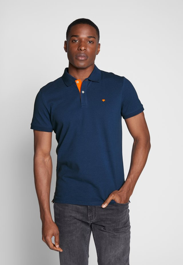 BASIC WITH CONTRAST - Koszulka polo - blue