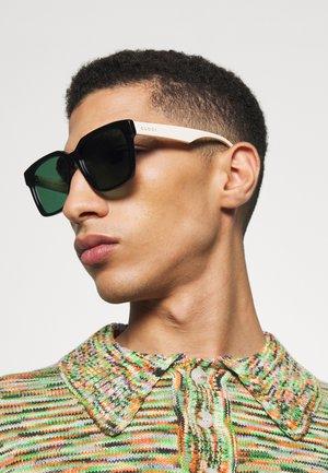 UNISEX - Sunglasses - black/white/green