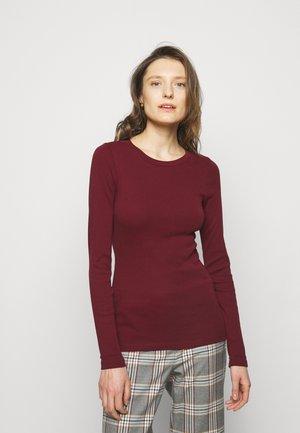 PERFECT FIT CREW - T-shirt à manches longues - vintage burgundy