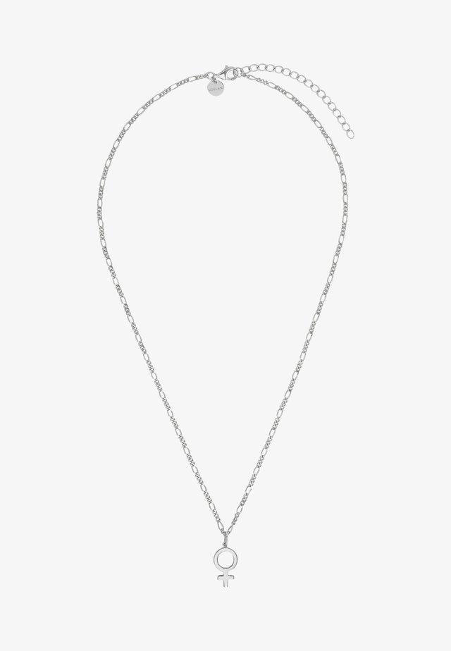 MIT ANHÄNGER - Halsband - silber
