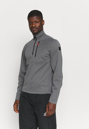 STRUCTED 1/2 ZIP  - Sweat polaire - black out