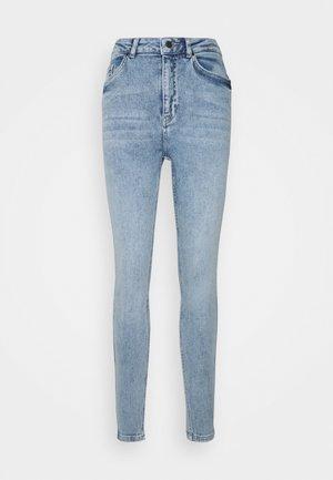 OBJANIA HARPER  - Slim fit jeans - light-blue denim