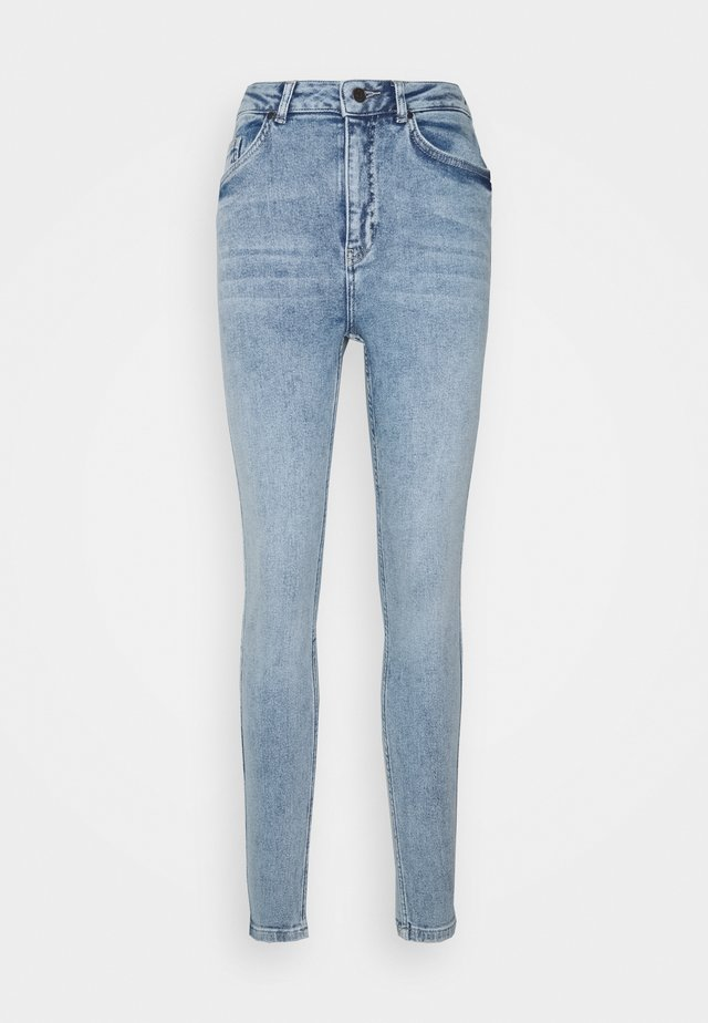 OBJANIA HARPER  - Jeans slim fit - light-blue denim
