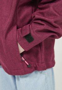 ZIGZAG - MANON MELANGE WATERPROOF - Light jacket - 4072 pink peacock - 7
