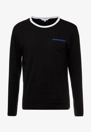 MONOGRAM TAPE BACK  - T-shirt à manches longues - black/white