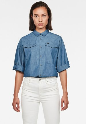 JOOSA BUTTON UP SHORT SLEEVE - Button-down blouse - rinsed