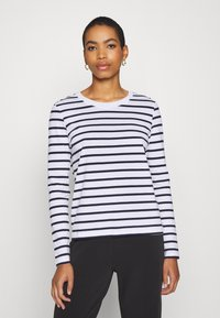 Selected Femme - SLFSTANDARD NEW TEE - Long sleeved top - maritime blue/bright white - 0