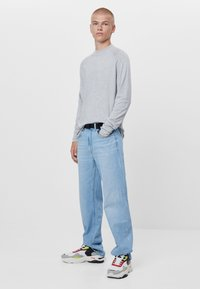 Bershka - Stickad tröja - grey - 1