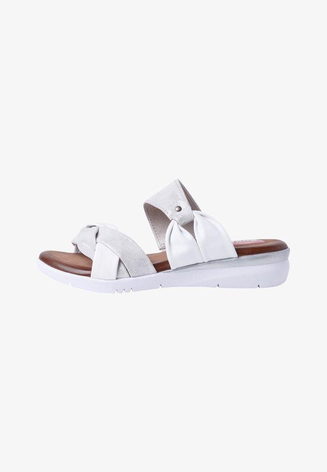 Ciabattine - white/silver