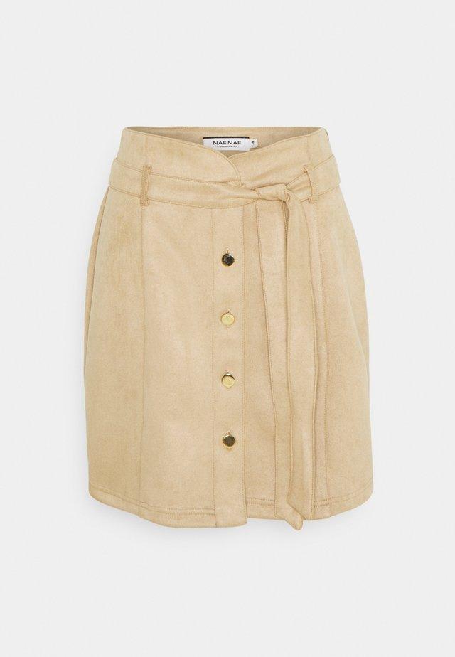 OUDA - A-snit nederdel/ A-formede nederdele - camel
