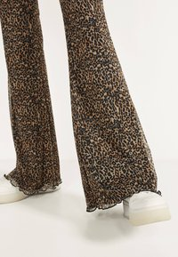 Bershka - Trousers - brown - 3
