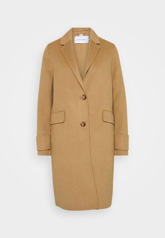 DOUBLE FACE COAT - Classic coat - hazel melange