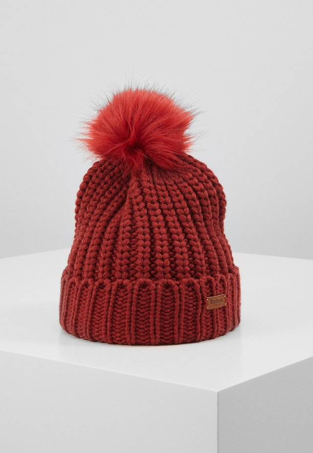 SALTBURN BEANIE - Bonnet - burnt red